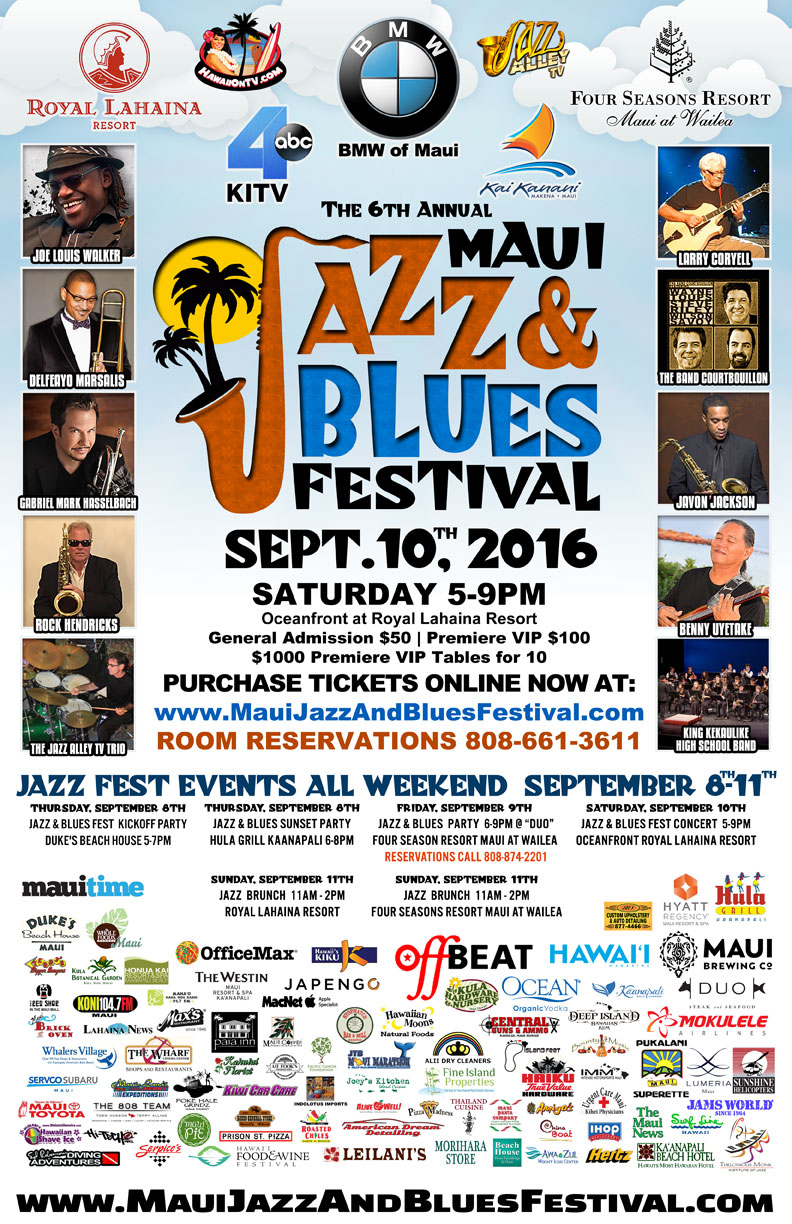 Maui Jazz and Blues Festival 2016